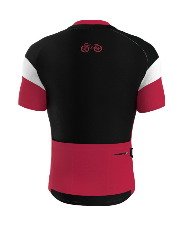 Ride For Life Bisiklet Forması (Bordo) - Regular Fit - Kısa Kol
