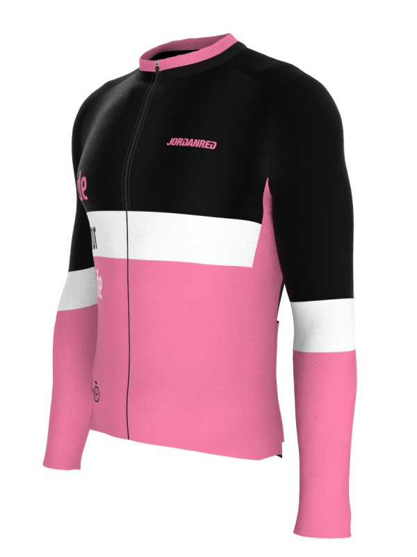 Ride For Life Bisiklet Forması (Pembe) - Regular Fit - Uzun Kol
